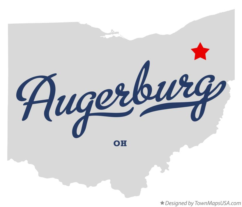 Map of Augerburg Ohio OH