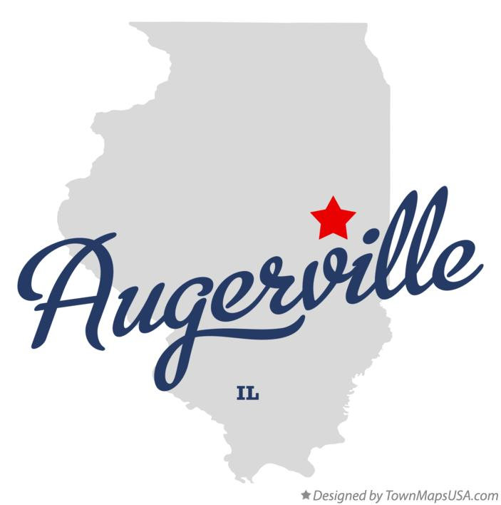 Map of Augerville Illinois IL