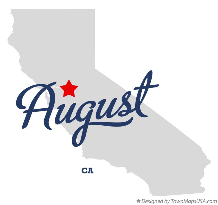Map of August California CA