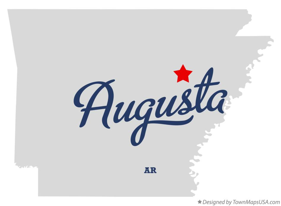 Map of Augusta Arkansas AR
