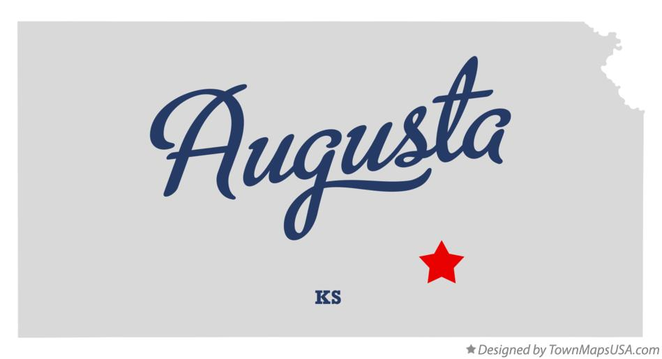 Map of Augusta Kansas KS