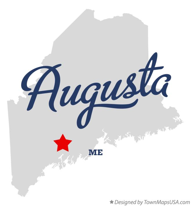 Map Of Augusta Me Maine