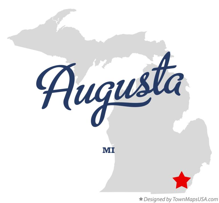 Map of Augusta Michigan MI