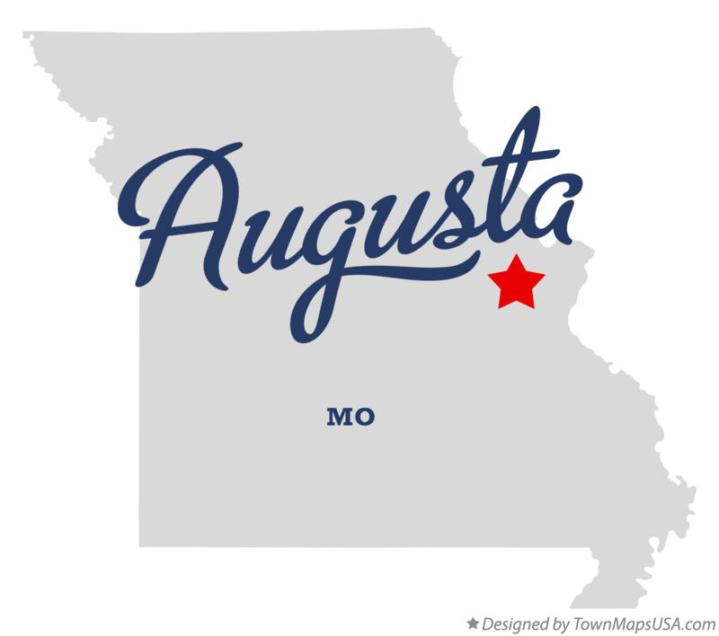 Map of Augusta Missouri MO