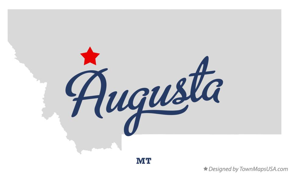 Map of Augusta Montana MT