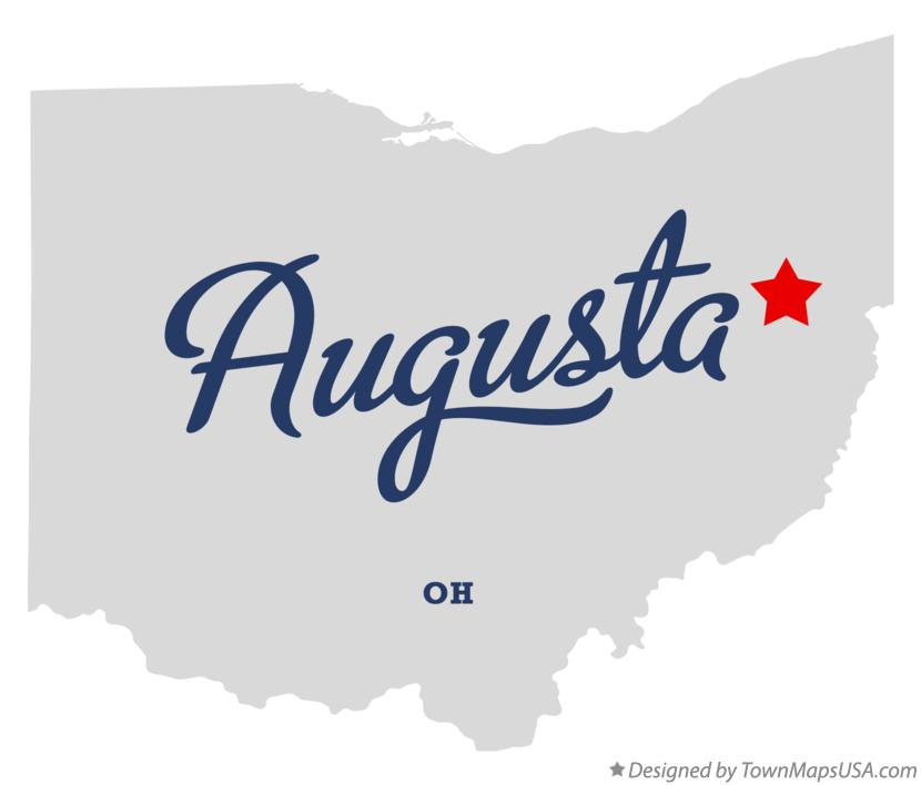 Map of Augusta Ohio OH