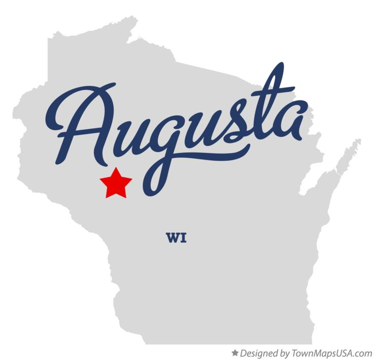 Map of Augusta Wisconsin WI