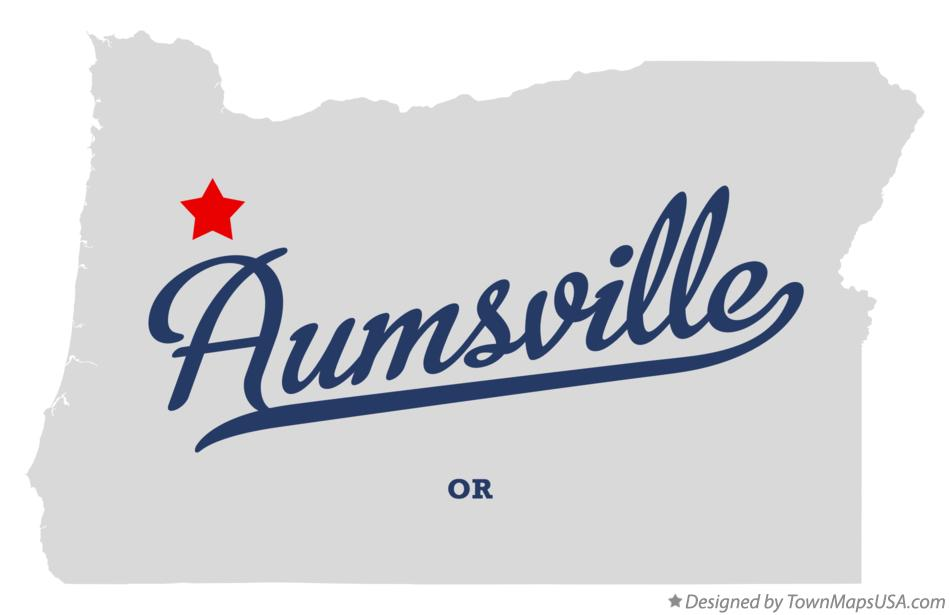 Map of Aumsville Oregon OR