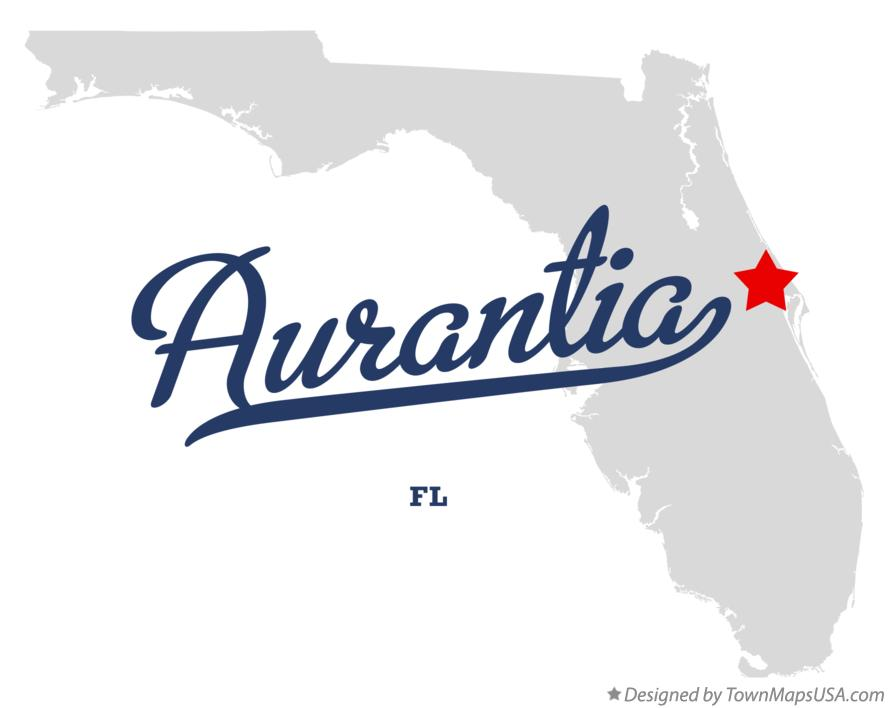Map of Aurantia Florida FL