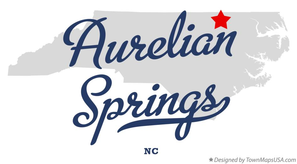 Map of Aurelian Springs North Carolina NC