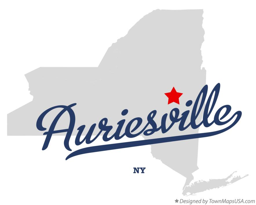 Map of Auriesville New York NY