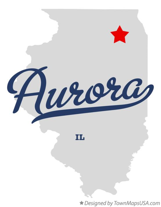 Map Of Aurora Il Illinois