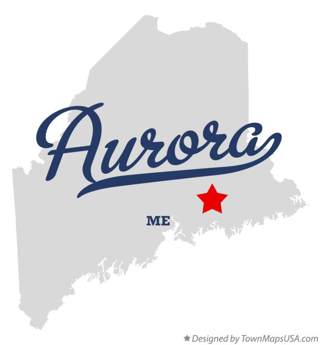 Map of Aurora Maine ME