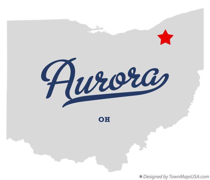 Map of Aurora Ohio OH