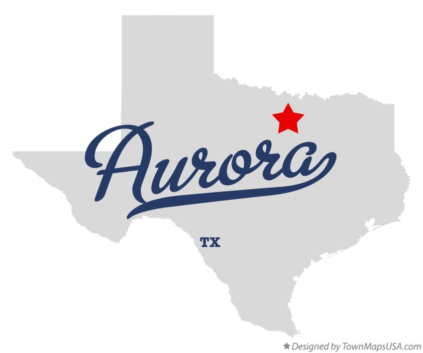 Map of Aurora Texas TX