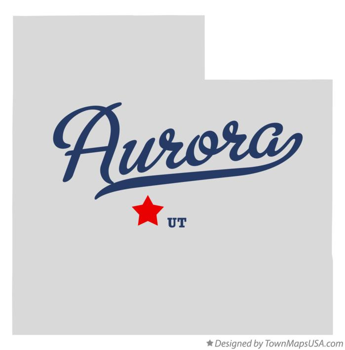 Map of Aurora Utah UT