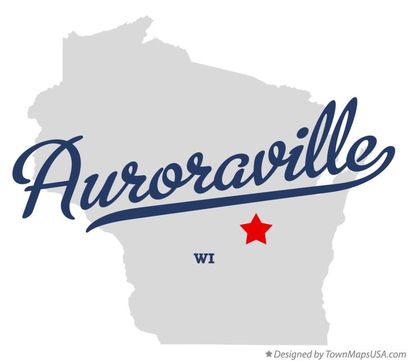 Map of Auroraville Wisconsin WI