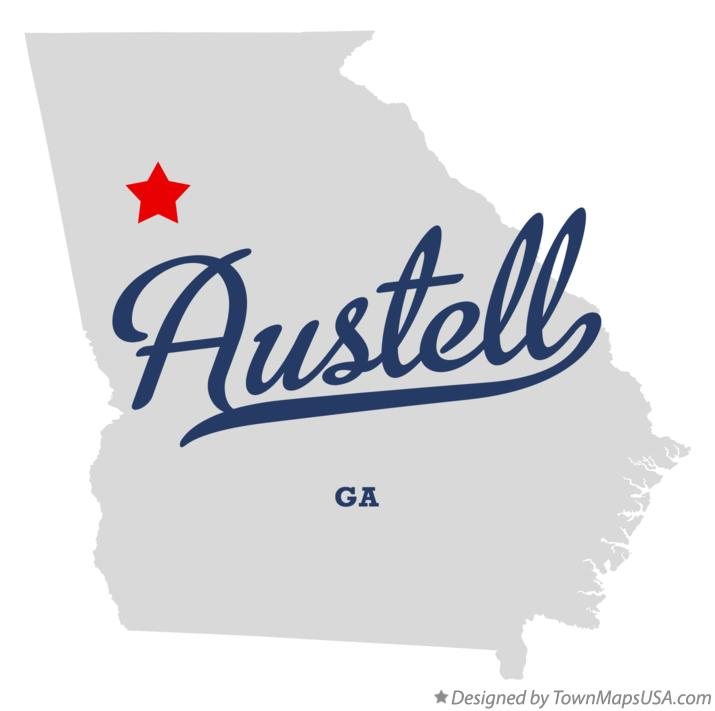 Austell Georgia Map Map of Austell Georgia ga