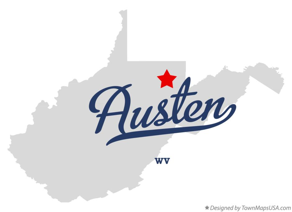 Map of Austen West Virginia WV