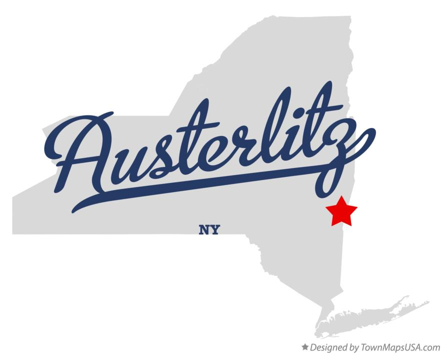 Map of Austerlitz New York NY