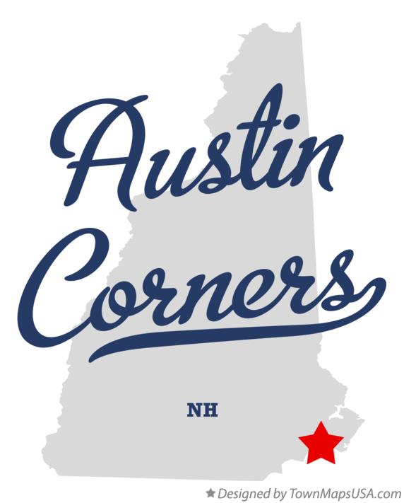 Map of Austin Corners New Hampshire NH