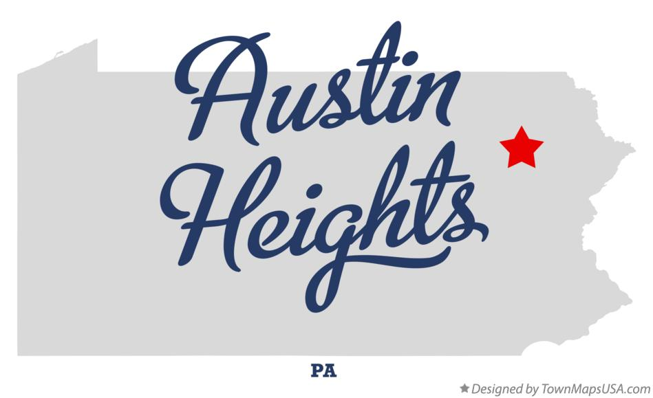 Map of Austin Heights Pennsylvania PA