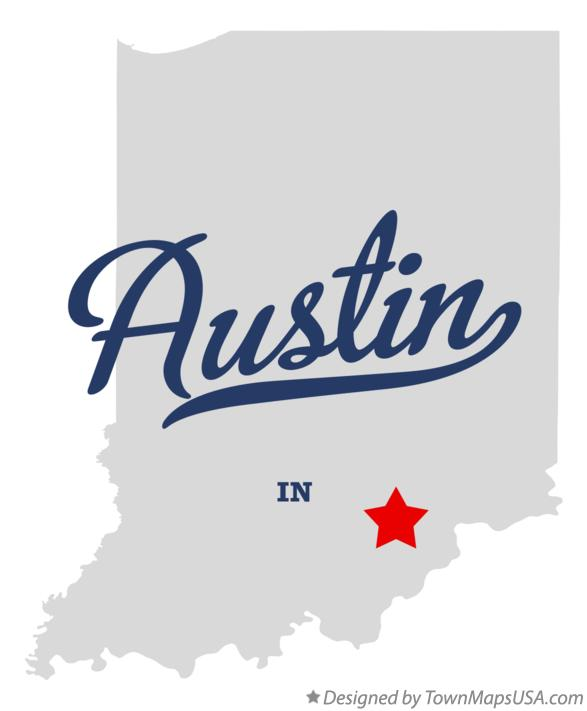 Map of Austin Indiana IN