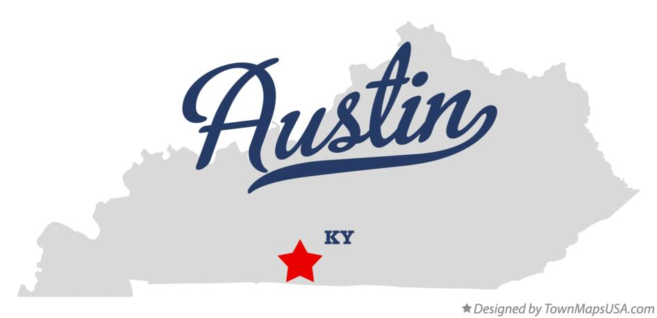 Map of Austin Kentucky KY