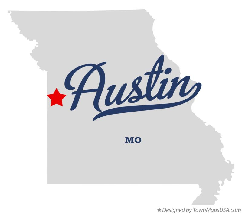 Map of Austin Missouri MO
