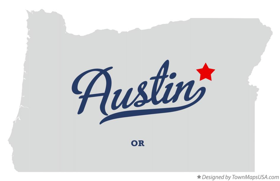 Map of Austin Oregon OR