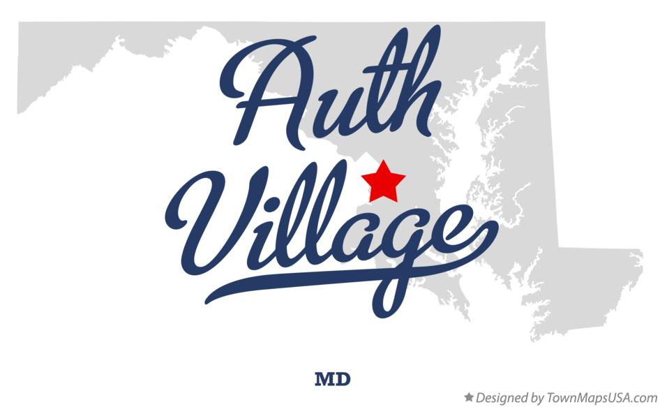 Map of Auth Village Maryland MD