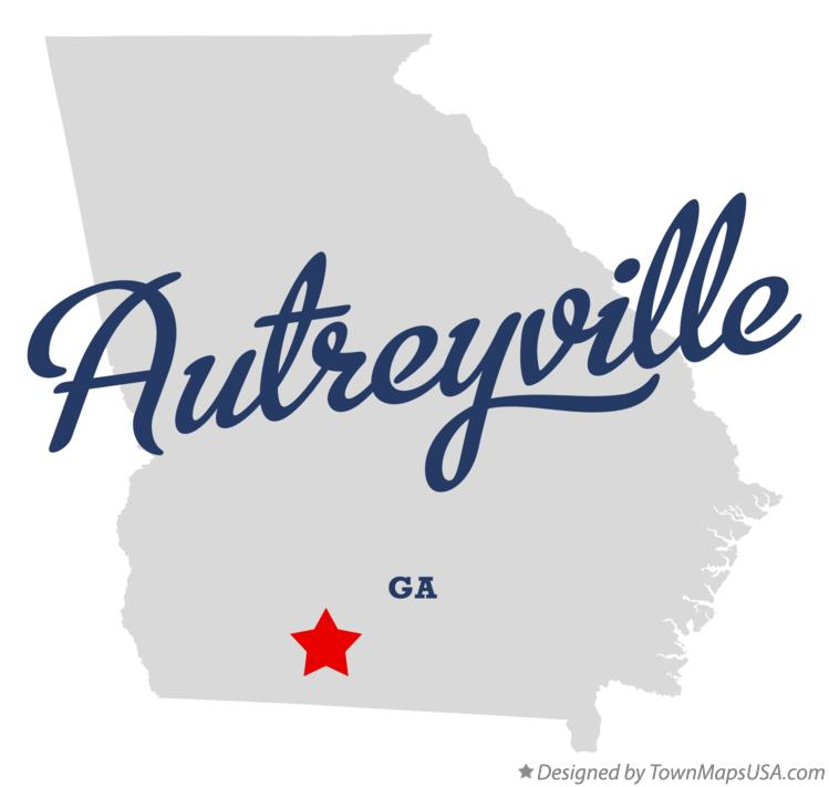 Map of Autreyville Georgia GA