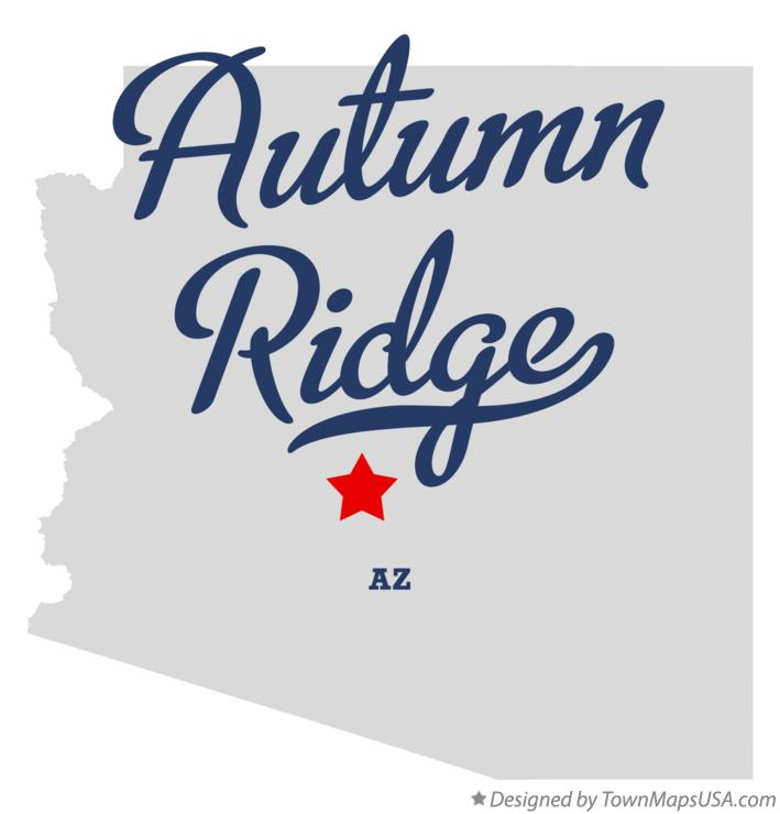 Map of Autumn Ridge Arizona AZ