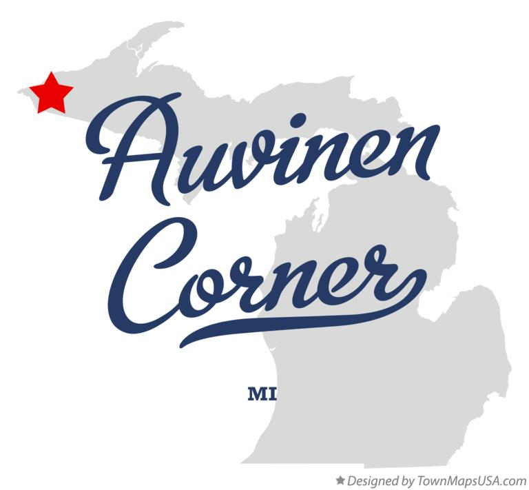 Map of Auvinen Corner Michigan MI