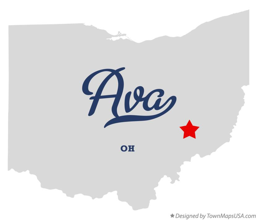 Map of Ava Ohio OH