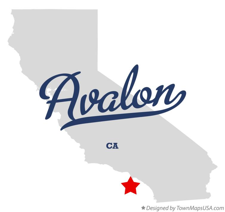 Map of Avalon California CA