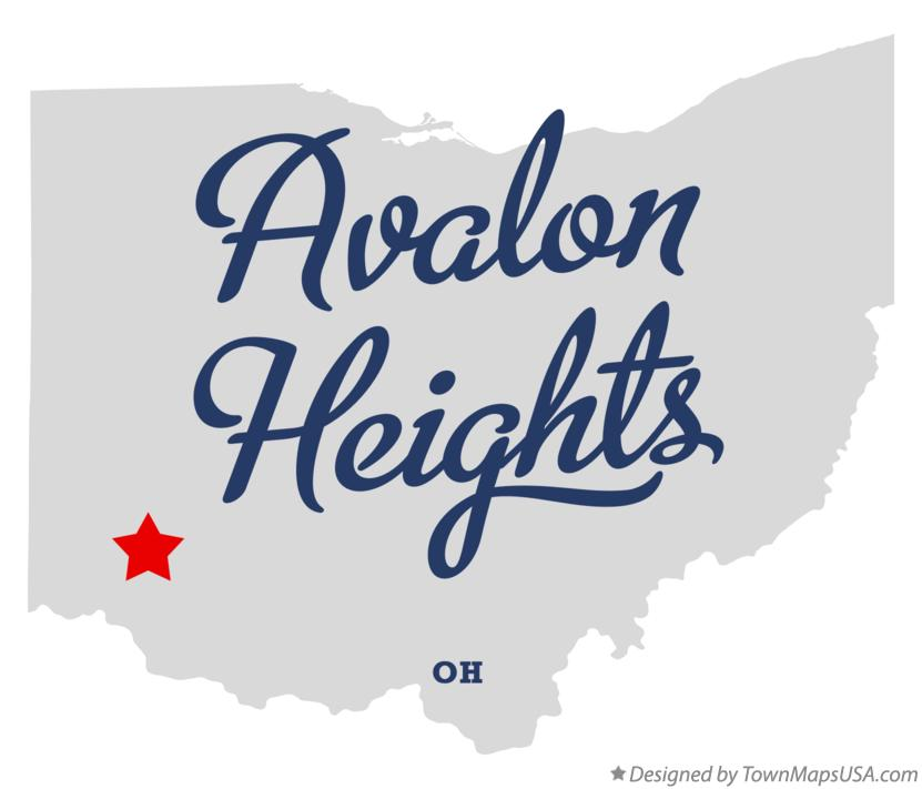 Map of Avalon Heights Ohio OH