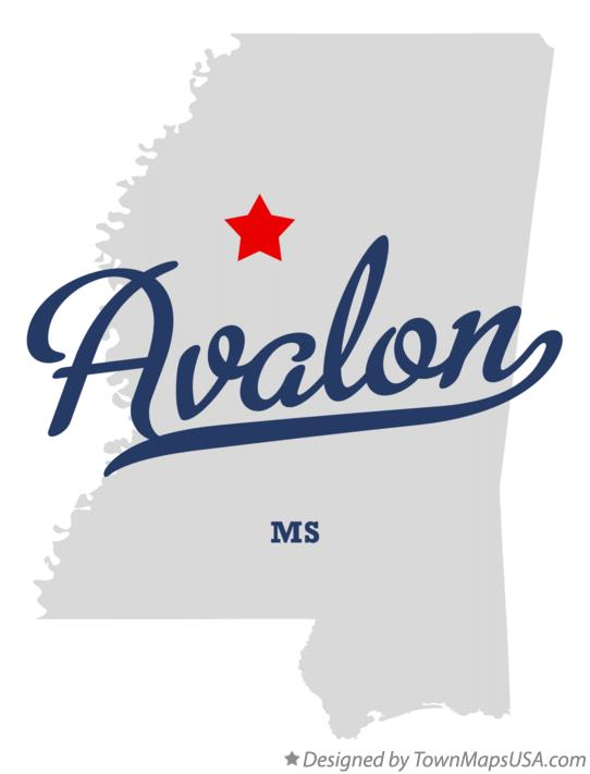 Map of Avalon Mississippi MS