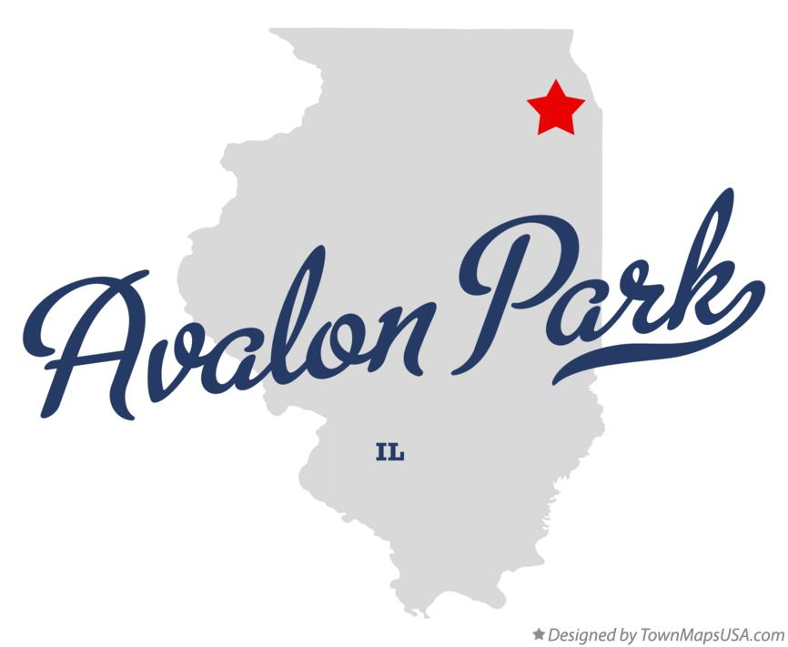 Map of Avalon Park Illinois IL