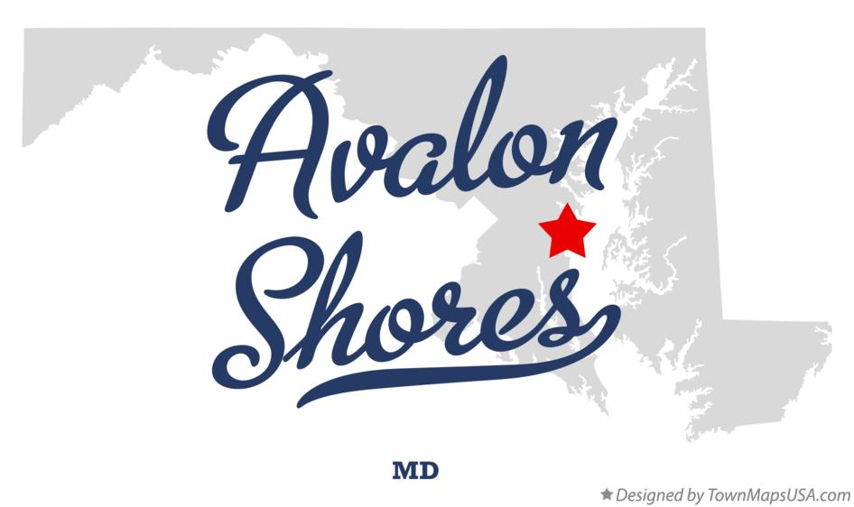 Map of Avalon Shores Maryland MD