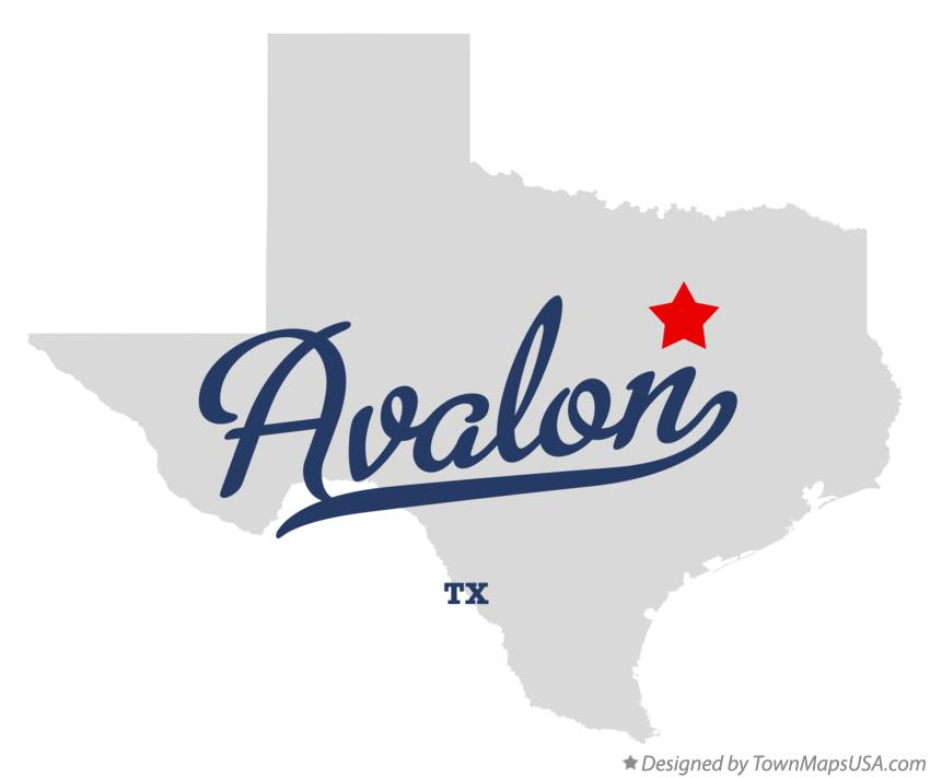 Map of Avalon Texas TX