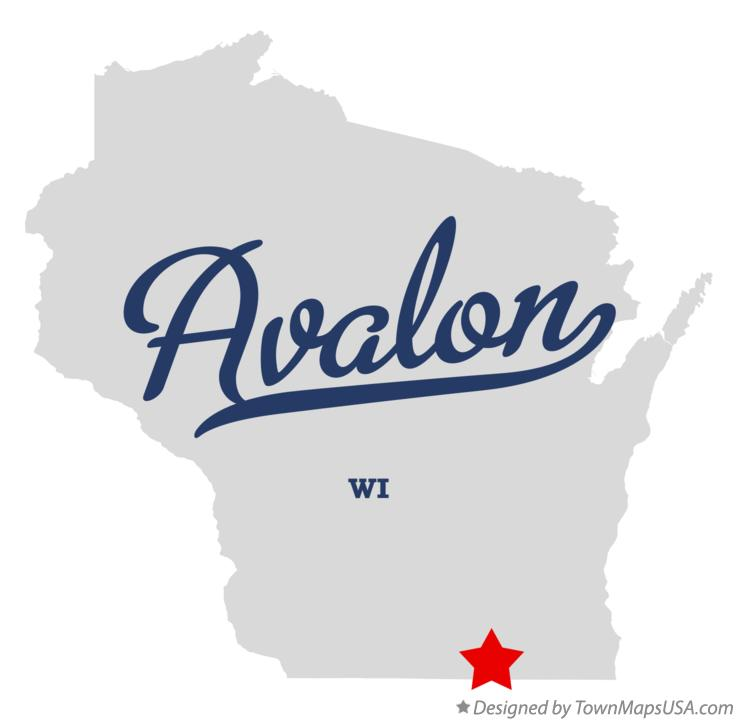 Map of Avalon Wisconsin WI