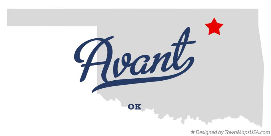 Map of Avant Oklahoma OK