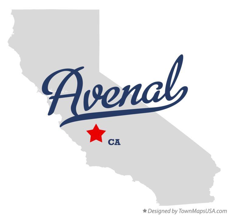 Map of Avenal, CA, California