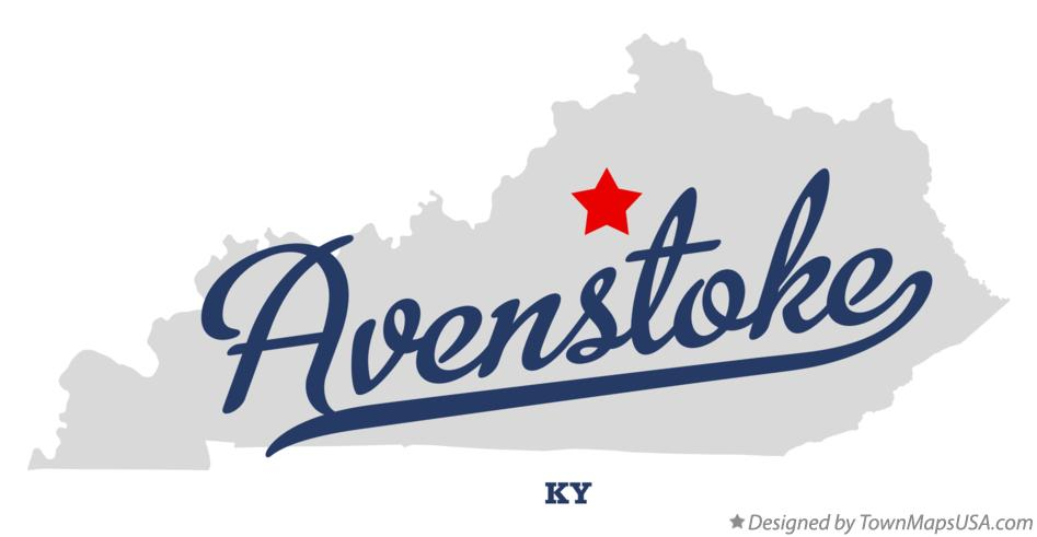 Map of Avenstoke Kentucky KY