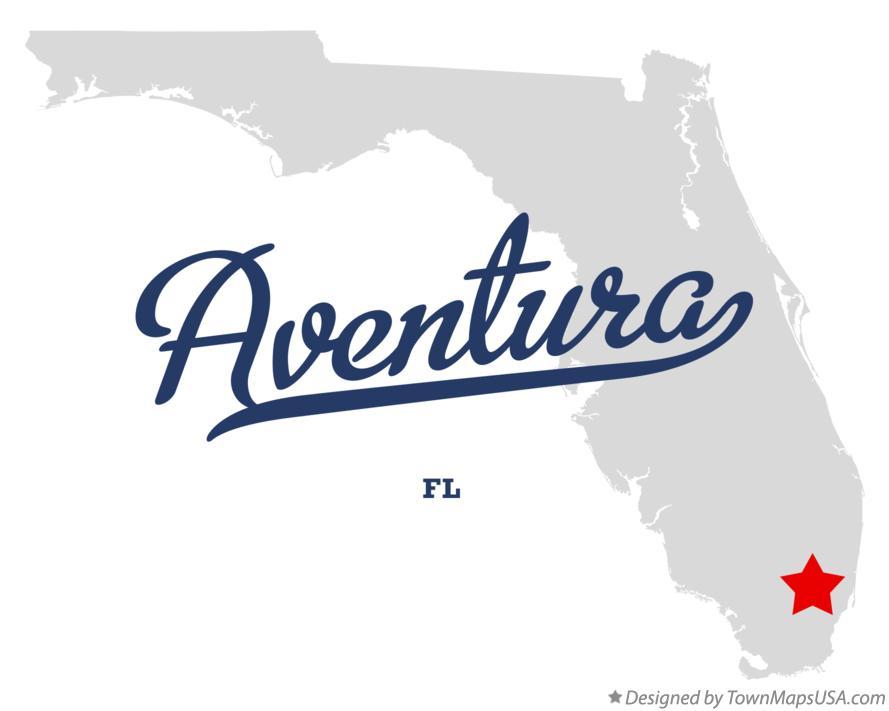 Aventura Florida Map.Map Of Aventura Fl Florida