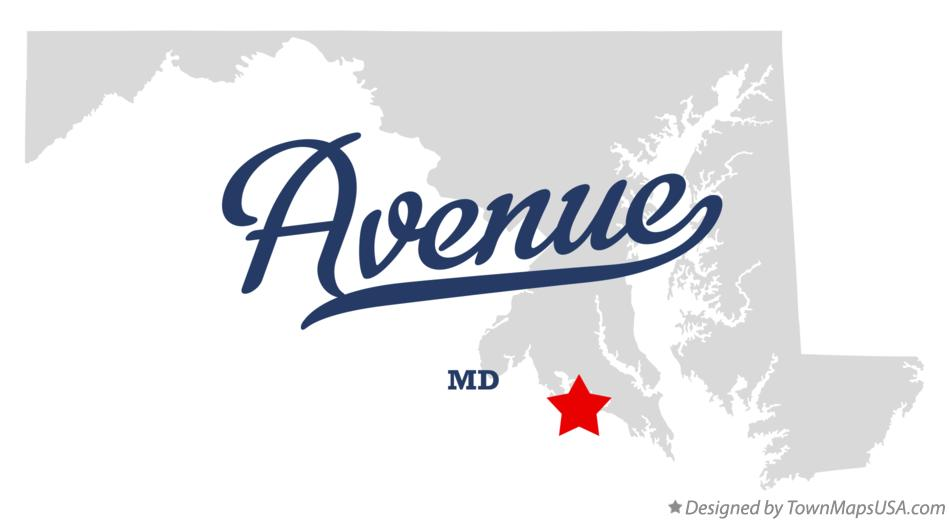 Map of Avenue Maryland MD