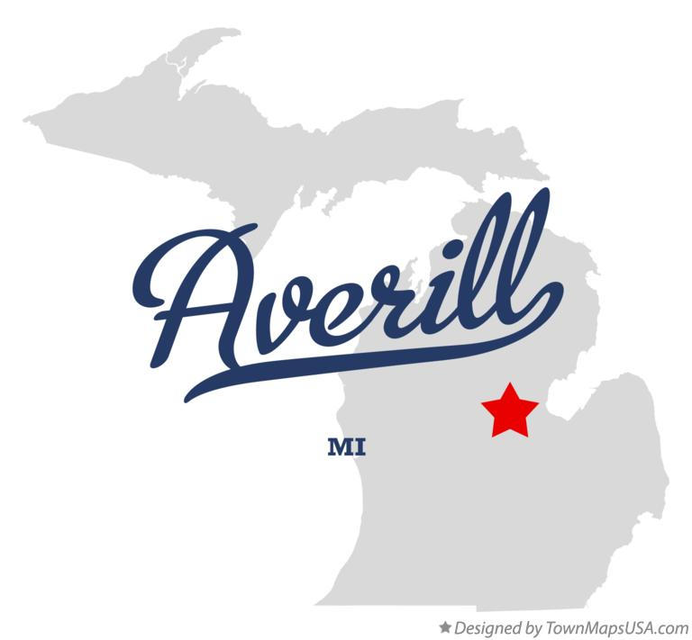 Map of Averill Michigan MI