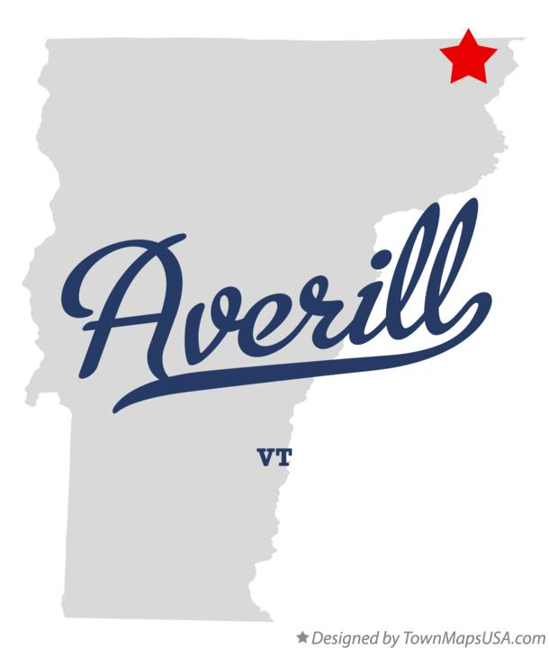 Map of Averill Vermont VT