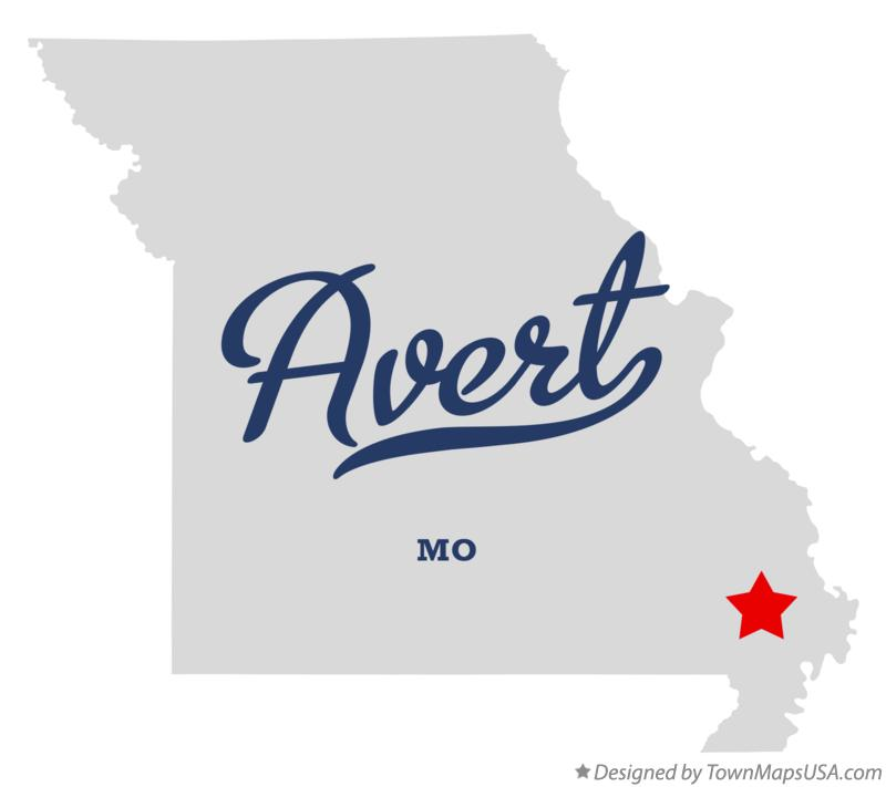 Map of Avert Missouri MO